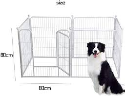 Dog Fence Dog Cage Large Medium And Small Dogs Pet Fence Dog Fence Door Railing Dog Fence Indoor And Outdoor Amazon Co Uk Kitchen Home