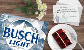 busch is giving couples a year s supply