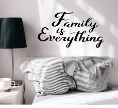 Vinyl Wall Decal Family Is Everything Inspirational Phrase Love Sticke Wallstickers4you
