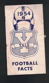 Yale University Football Facts 1954 Brochure Ivy League Byron ...