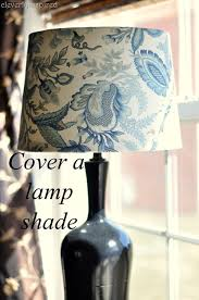 diy cover a lampshade
