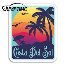 Jump Time For Costa Del Sol Vinyl Stickers Spain Fun Sticker Laptop Luggage Car Decal Window Wiper Trunk Car Styling Car Stickers Aliexpress