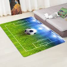 Modern Carpet 3d Football Area Rugs Flannel Rug Memory Foam Carpet Boys Kids Play Crawl Mat Big Rug Carpets For Home Living Room Carpet Aliexpress