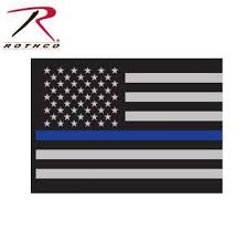 Rothco Thin Blue Line Flag Decal Tactical Wear