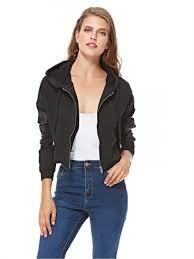 zip up jacket for women black souq