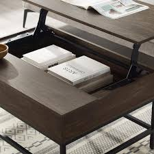 brown ash lift top storage coffee table