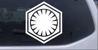 Star Wars First Order Emblem Solid Car Or Truck Window Decal Sticker Rad Dezigns