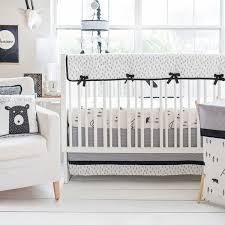 black and white crib bedding little