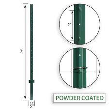 Blue Hawk 5 In X 7 Ft Powder Coated Steel Garden Fence U Post Lowes Com In 2020 Garden Fence Steel Fence