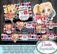 Kit Imprimible Harley Quinn Candy Bar Invitaciones 240 00 En