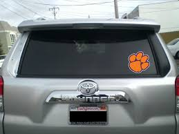 Clemson Tigers Paw Logo Vinyl Decal Sticker 5 Sizes Sportz For Less