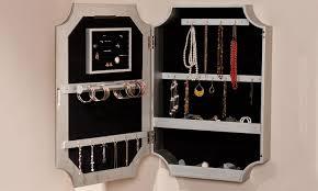 vintage mirror jewelry organizer