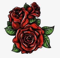 Red Roses Sticker Vinyl Decal Choose Size Ebay