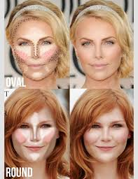 contouring for oval round face shape