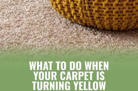 carpet turning yellow after cleaning