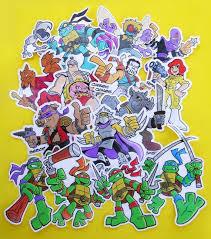 Ninja Turtles Vinyl Stickers Die Cut Tmnt Decals 15 To Etsy