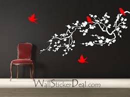 Birds And Cherry Blossom Branches Wall Stickers Home Decorating Photo 33337377 Fanpop