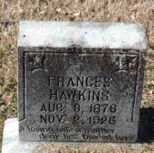 "Martha Frances ""Frankie"" Simpson Hawkins (1876-1925) - Find A Grave Memorial"