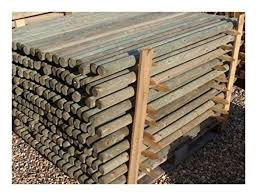 10 X 1 5m Tall X 40mm Round Wooden Treated Pointed Fence Fencing Posts Stakes For Sale Ebay