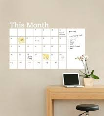 Dry Erase Wall Calendar With Memo Vinyl Wall Decal Etsy