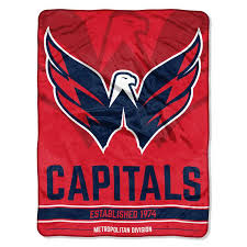 Washington Capitals Bar Down Raschel Throw