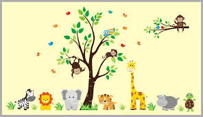 Safari Animal Stickers Childrens Wall Decals For Nursery Room Baby Nurserydecals4you