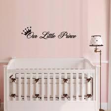 Diy Our Little Prince Crown Wall Sticker Art Decal Baby Boy Nursery Bedroom Ebay