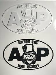 Disney Disneyland Ap Annual Passholder Car Decal Hatbox Ghost Haunted Mansion Ebay