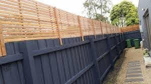 Stained Hardwood Fence Extensions Lattice Factory Lattice Factory Privacy Fence Landscaping Fence Toppers Fence Landscaping