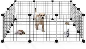 Amazon Com Allisandro Small Pet Playpen Small Animal Cage For Indoor Outdoor Use Portable Metal Wire Yard Fence For Small Animal Puppy Kitten Guinea Pigs Bunny Turtle Hamster 12 Panels 13 8x13 8 Inches Pet