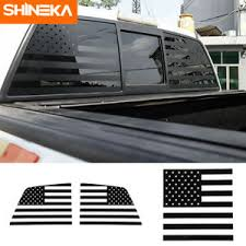 Rear Windshield Stickers For Ford F150 2009 2014 American Flag Decal Ebay