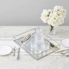 ega silver metal mirror tray