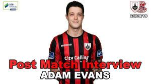 Adam Evans | Post Match Interview v Cobh Ramblers | 21/09/19 - YouTube