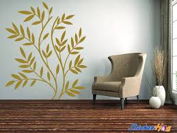 Decorative Leaves And Branches Nature 1 Wall Decals Graphic Vinyl Sticker Bedroom Living Room Wall Home Decor