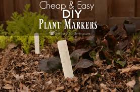 and easy diy plant markers
