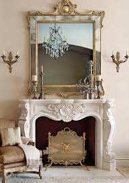 gorgeous mantel and mirror country