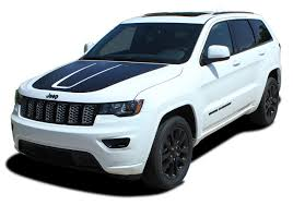 Trail Hood Jeep Grand Cherokee Trailhawk Hood Decal Stripe Vinyl Graphic Kit For 2011 2020 Models Moproauto Professional Vinyl Graphics And Striping