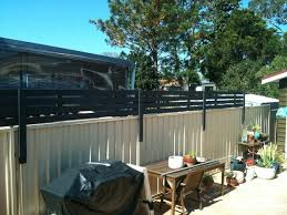 Wood Privacy Screen To Attach To Colourbond Fence Privacy Fence Landscaping Privacy Screen Privacy Fence Designs