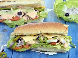 veg sub sandwich recipe veggie