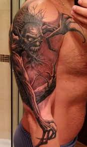 Demon With Long Arms Tattoo On Half Sleeve Tattoos Book 65 000
