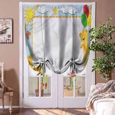 Amazon Com Houselookhome Window Blind Curtain Train Window Valance Balloon Blind Kids Toy Teddy Bears Flowers Curtains For Small Window Rod Pocket Panel 42 W X 72 L Home Kitchen