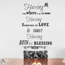 family love blessing quotes home decor vinyl wall stickers bedroom