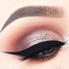 rose gold makeup for attractive women