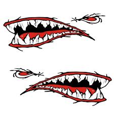 4x Vinyl Cartoon Shark Teeth Mouth Shark Decals Kayak Boat Car Sticker New Archives Statelegals Staradvertiser Com