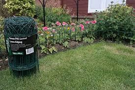 Garden Border Fence Green Pvc Coated Lawn Edging 40cm X 10m Rolls Amazon Co Uk Garden Outdoors