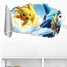Home Furniture Diy Wall Decals Stickers Pokemon Cartoon Hot Wall Stickers Creative Postersmirror Decals Room Decoration Mtmstudioclub Com