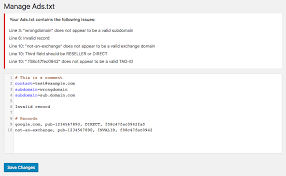 ads txt manager for wordpress 10up