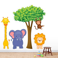 Shop Jungle Scene Printed Wall Decal Set Overstock 22174547