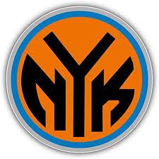 Amazon Com Hotprint Knicks Basketball New York Sport Logo Car Bumper Sticker Decal 5 X 5 Kitchen Dining