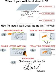 Amazon Com Wall Decal Quote Psalm 127 3 Children Are A Gift From The Lord Scripture Wall Decal Arts Crafts Sewing